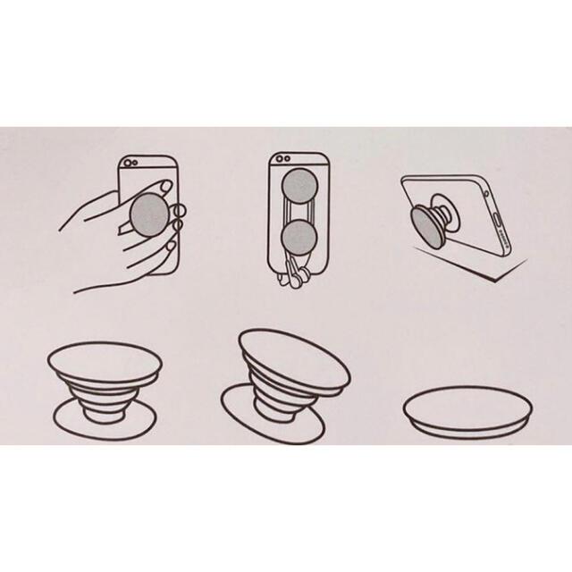 大人気 スマホグリップ スマホソケット ポップソケット 白 1個 スマホ/家電/カメラのスマホアクセサリー(その他)の商品写真