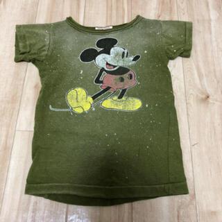 デニムダンガリー(DENIM DUNGAREE)のデニム&ダンガリー ミッキー Tシャツ 100(Tシャツ/カットソー)