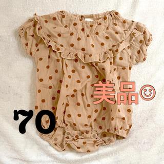 futafuta - 【美品】tete a tete テータテート水玉ロンパース 70