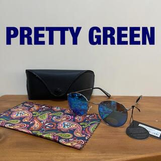 PRETTY GREEN プリティーグリーン レノンサングラス   ブルー