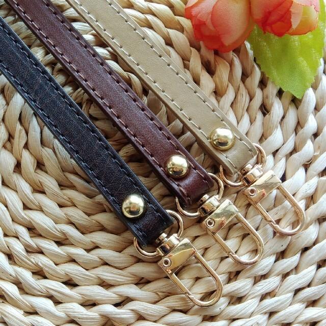 鞄 バッグ ポーチ ガマ口 口金 ストラップ  持ち手 スマホ 財布 36 ハンドメイドの素材/材料(各種パーツ)の商品写真