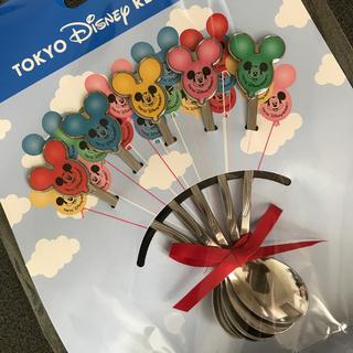 ディズニー(Disney)のディズニーリゾートカトラリー スプーン ミッキーバルーン 5本(カトラリー/箸)