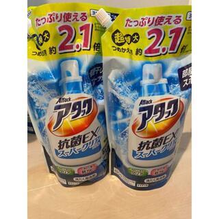 アタック 抗菌EX スーパークリアジェル 洗濯洗剤 液体 詰め替え 1.6Kg×(洗剤/柔軟剤)