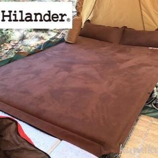 新品未開封 Hilander ハイランダー マット (枕付きタイプ) ダブル(寝袋/寝具)