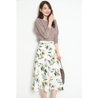 JUSGLITTY - ジャスグリッティー 水彩フラワープリントスカート 花柄