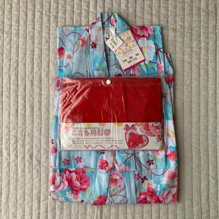 ニシマツヤ(西松屋)の新品 浴衣 110 水色 桜 西松屋(甚平/浴衣)