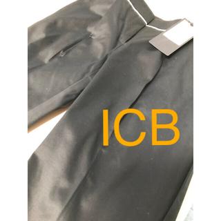 アイシービー(ICB)の新品未使用タグ付きICBアイシービーシンプル上品パンツ ズボン(カジュアルパンツ)