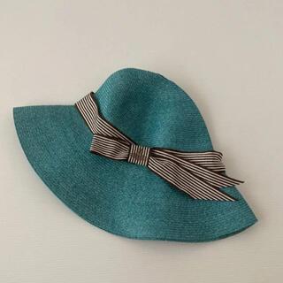 Vivienne Westwood - 新品⭐️ ヴィヴィアン ウエストウッド 帽子 ストローハット ブルーグリーン系