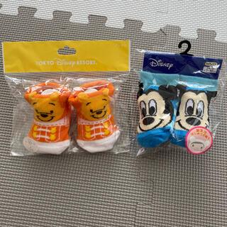ディズニー(Disney)の【新品・未使用】 ベビー 靴下 ソックス ディズニー プーさん ミッキー(靴下/タイツ)