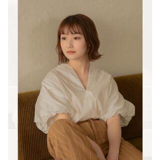 mystic - Ianofficialアイアムデザインバルーンシャツホワイト