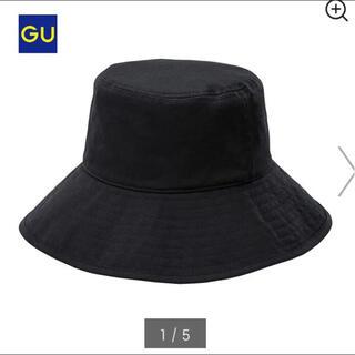 ジーユー(GU)のGU ジーユー バケットハット バケハ ブラック 黒 帽子 日焼け止め(ハット)