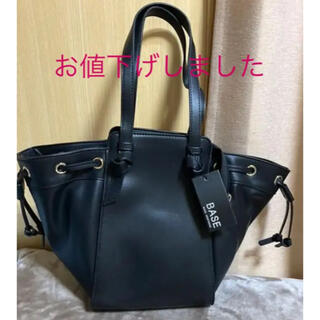 シマムラ(しまむら)の新品未使用 合皮黒トートバッグ(トートバッグ)