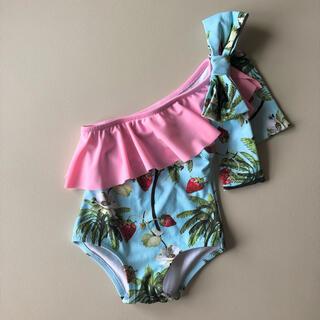 ネクスト(NEXT)のPhi clothing イチゴ柄 子供用水着 80cm(水着)