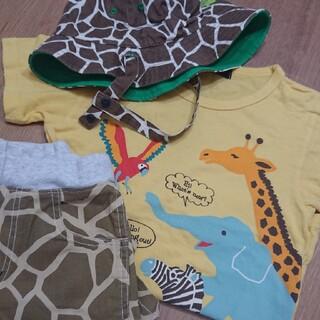 クレードスコープ(kladskap)のクレードスコープ 120 動物セット Tシャツ パンツ 帽子(Tシャツ/カットソー)