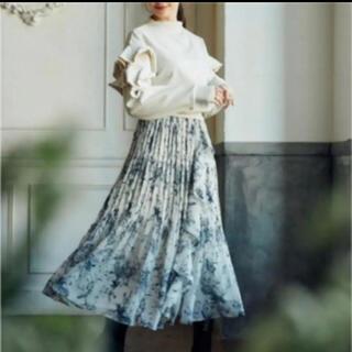 snidel - herlipto Pleated Chiffon Long Skirt
