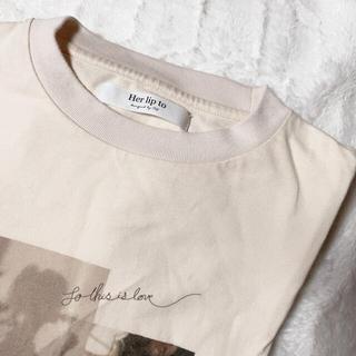 スナイデル(snidel)のHer lip to Limited Edition Long Tee(Tシャツ(長袖/七分))