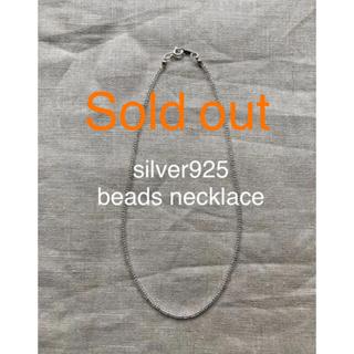 ビューティアンドユースユナイテッドアローズ(BEAUTY&YOUTH UNITED ARROWS)のsilver925 ×beads necklace☆ビーズネックレス☆百々千晴(ネックレス)