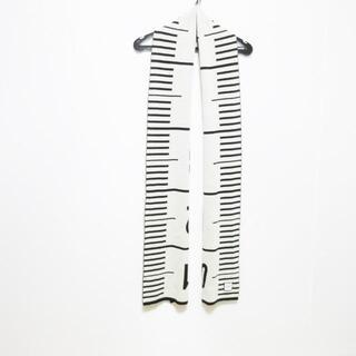 ジャンポールゴルチエ(Jean-Paul GAULTIER)のゴルチエ マフラー美品  黒×アイボリー(マフラー/ショール)