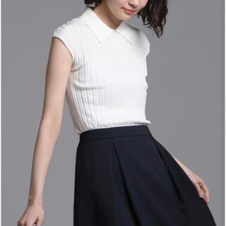ketty - 【洗濯可能】アセテートワイドリブ襟付ニットプルオーバー