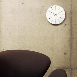 アルネヤコブセン(Arne Jacobsen)のARNE JACOBSEN ヤコブセン バンカーズクロック290mm 柱時計(掛時計/柱時計)