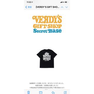 シークレットベース(SECRETBASE)のVERDY 京都大作戦 コラボTシャツ Lサイズ 2021年(Tシャツ/カットソー(半袖/袖なし))
