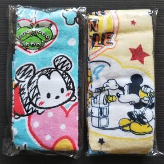 Disney - Disney☆ミッキー フェイスタオル 2枚セット