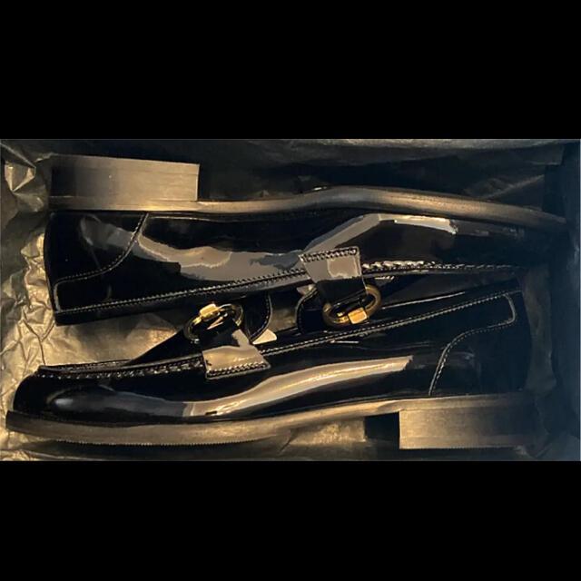 GRACE CONTINENTAL(グレースコンチネンタル)のLUCA GROSSI ヒールアクセント ビットローファー 22.5cm レディースの靴/シューズ(ローファー/革靴)の商品写真