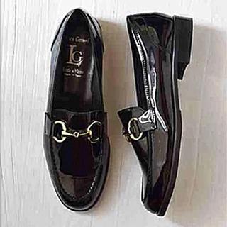 グレースコンチネンタル(GRACE CONTINENTAL)のLUCA GROSSI ヒールアクセント ビットローファー 22.5cm(ローファー/革靴)