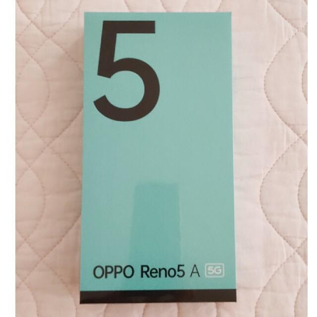 OPPO(オッポ)の【新品未開封】OPPO Reno5A 国内版SIMフリー アイスブルー DSDV スマホ/家電/カメラのスマートフォン/携帯電話(スマートフォン本体)の商品写真
