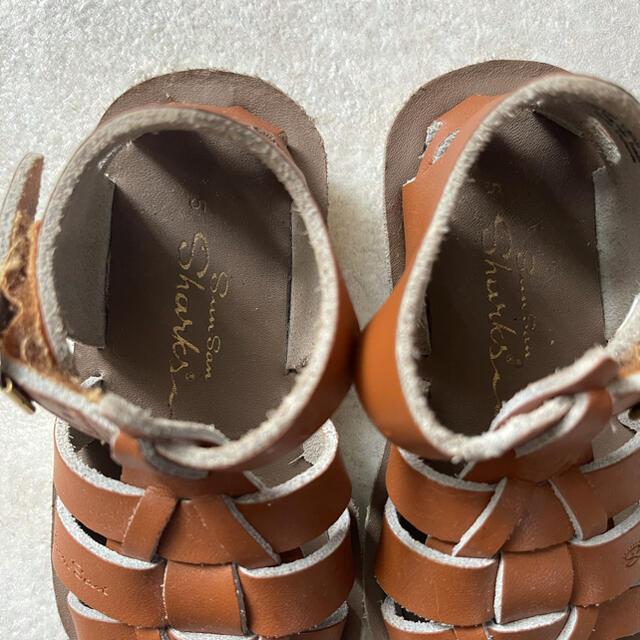 Caramel baby&child (キャラメルベビー&チャイルド)のソルトウォーターサンダル/シャーク/Tan キッズ/ベビー/マタニティのベビー靴/シューズ(~14cm)(サンダル)の商品写真