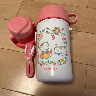 familiar - 新品未使用ファミリア 2way水筒大口コップと直飲みお茶入れ幼稚園お出かけ保育園