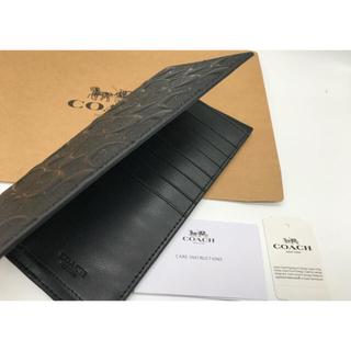 コーチ(COACH)のCOACH 長財布 メンズ F75365 BLK シグネチャー クロスグレイン(長財布)