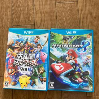 ウィーユー(Wii U)のマリオカート8 大乱闘スマッシュブラザーズ for WiiU セット(家庭用ゲームソフト)