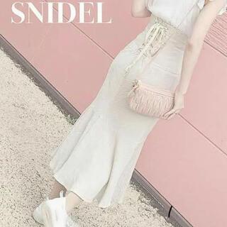 snidel - Snidel コットンリネンマーメイドスカート