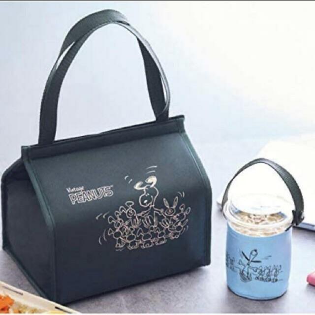ミニ5月号 スヌーピー保冷バッグ&ドリンクホルダー インテリア/住まい/日用品のキッチン/食器(弁当用品)の商品写真