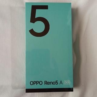 OPPO - ●新品未開封SIMフリー OPPO Reno5 A アイスブルー 5G対応