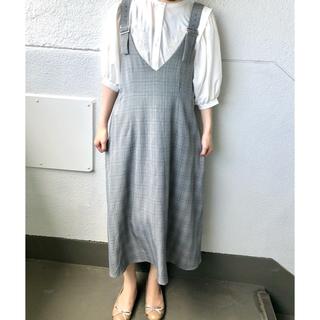 ナチュラルクチュール(natural couture)のチェックサス付きワンピース(ロングワンピース/マキシワンピース)