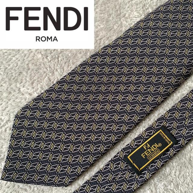 FENDI(フェンディ)の✨美品✨ FENDI フェンディ ネクタイ 高級シルク100% ズッカ柄 総柄 メンズのファッション小物(ネクタイ)の商品写真