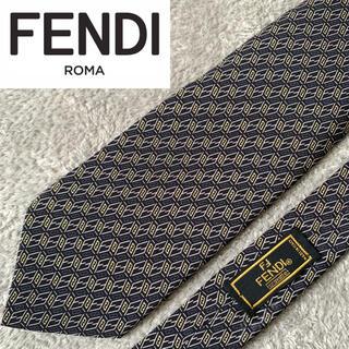 FENDI - ✨美品✨ FENDI フェンディ ネクタイ 高級シルク100% ズッカ柄 総柄