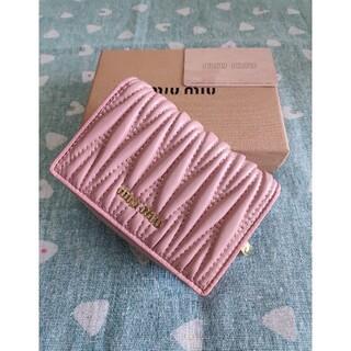 ミュウミュウ(miumiu)の素敵♬❀MIUMIU❀❥さいふ❀ミュウミュウ  小銭入れ  カード入れ ピンク(コインケース)