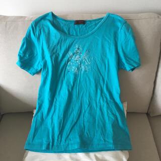 OLD ENGLAND - オールドイングランド ターコイズ プリント Tシャツ カットソー