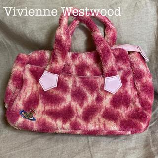 ヴィヴィアンウエストウッド(Vivienne Westwood)のレア/Vivienne Westwood レオパード パイル生地 ハンドバッグ(ハンドバッグ)