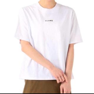 アメリヴィンテージ(Ameri VINTAGE)の新品未使用 CLANE ロゴTシャツ 2 ホワイト(Tシャツ(半袖/袖なし))