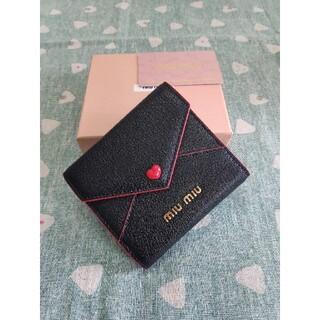 ミュウミュウ(miumiu)の素敵♬❀MIUMIU❀❥さいふ❀ミュウミュウ  小銭入れ  カード入れ ブラック(コインケース)