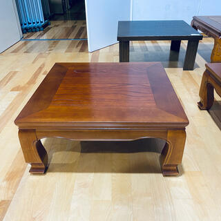 座卓けやき75cm角日本製・送料サービス(ローテーブル)