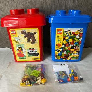 レゴ(Lego)の★☆ LEGO 4105 7615 赤 青 バケツ セット おまけ付き ☆★(知育玩具)