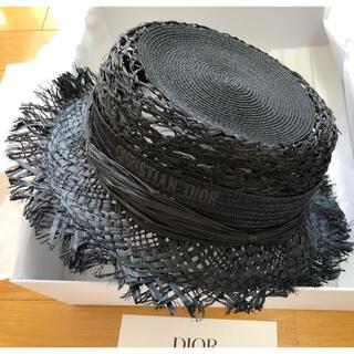 クリスチャンディオール(Christian Dior)の9rara9様専用ディオール ラフィア帽子&ベルベット帽子2点(麦わら帽子/ストローハット)