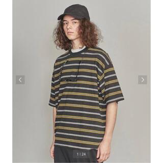 BEAUTY&YOUTH UNITED ARROWS - BEAUTY&YOUTH コットンヘンプ ボーダー ワイド Tシャツ