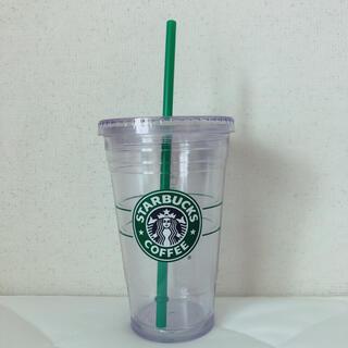 Starbucksタンブラー クリア 旧ロゴ