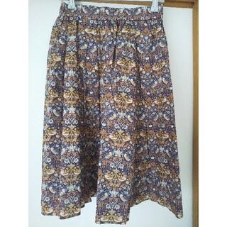 ドアーズ(DOORS / URBAN RESEARCH)のお値下げ タグ付き未使用 リバティプリント スカート ストロベリー シーフ(ひざ丈スカート)
